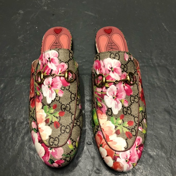 74990298b Gucci Shoes | Sold Princetown Blooms Floral Mules | Poshmark